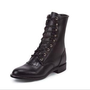 Justin 506 Hiram Black Lace Boots